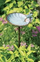 Achla Scallop Shell Bird Bath with Verdi Finish