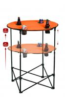 Picnic Plus Portable Tailgate Scrimmage Table, Orange