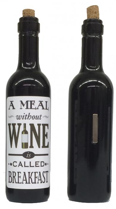 Grape Memories A meal without wine is called breakfast Clever Saying Magnet