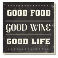 Counter Art Good Food Good Wine Coasters Set of 4