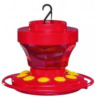 First Nature 16 Ounce Flower Hummingbird Bird Feeder