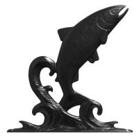 Large Bell with Trout - Black