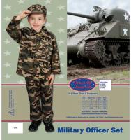 Dress Up America Deluxe Military Officer Set - Small 4-6