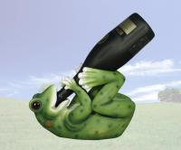 DWK Frog Wine Holder