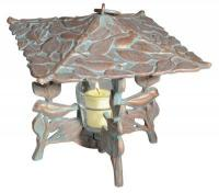 Chickadee Twilight Lantern - French Bronze