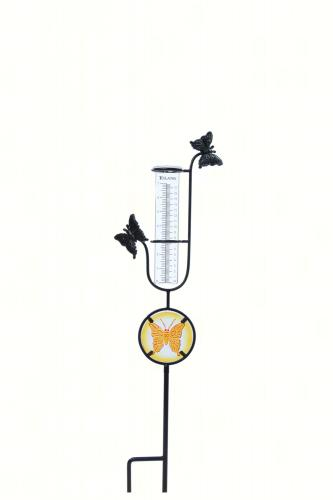 toland butterfly rain gauge on stake
