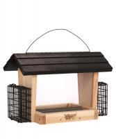 Nature's Way Cedar 6 Qt Hopper Bird Feeder with Suet Cages