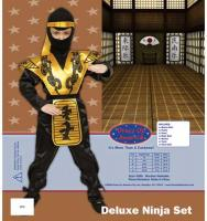 Dress Up America Deluxe Ninja Set - Small 4-6