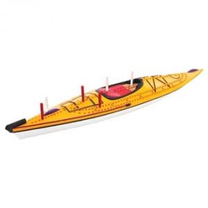 Outside-Inside Kayak Cribbage Board