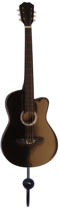 Songbird Essentials Black Acoustic Guitar Single Wallhook