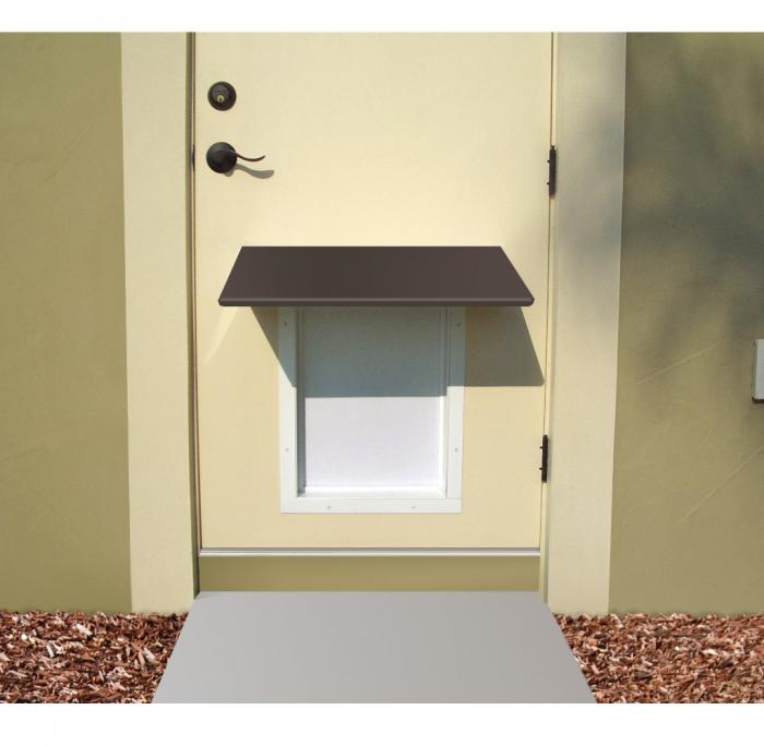 PlexiDor Medium Pet Door Awning, Bronze