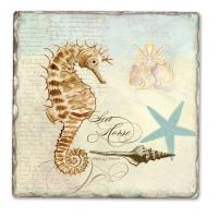 Counter Art Coastal Waterways Single Tumbled Tile Coaster