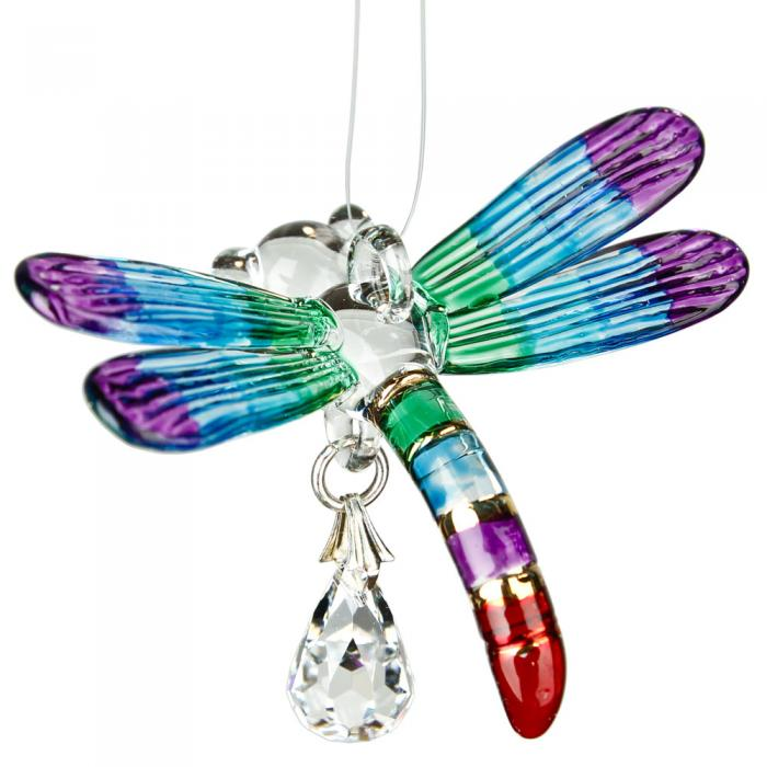 Woodstock Chimes Fantasy Glass Dragonfly Summer