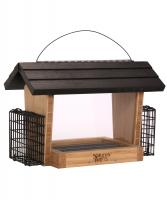 Nature's Way Bamboo 6 Qt Hopper Seed and Suet Feeder