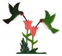 "30"" Hummingbirds Weathervane - Rooftop Color"