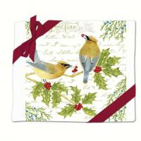 Alice's Cottage Cedar Waxwing Flour Sack Towel