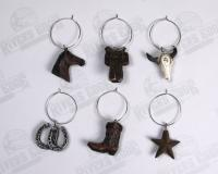 Rivers Edge Products Western Wine Charm Set, 6 pcs