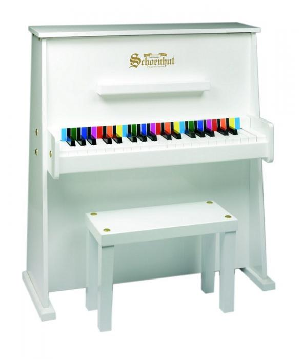 Schoenhut Day Care Durable Spinet  37-Key 3-Octave Piano, White
