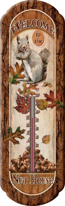 Rivers Edge Products Nut House Tin Thermometer