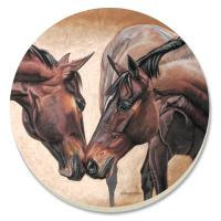 Counter Art Horse Kiss Coasters Set of 4