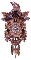 Aesop's Fable Cuckoo Clock with Hand-carved Maple Leaves, Grapes, Bird, and Fox - 15 Inches Tall