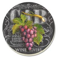 Counter Art Chalkboard Wine Coasters Set of 4