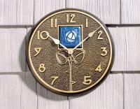 Whitehall Blue Dard Hunter Rose in French Bronze - Clock