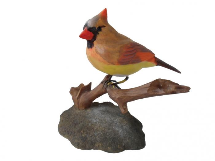 Bird's Choice Northern Cardinal Carving Female