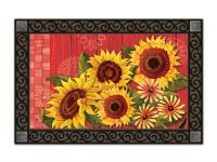Magnet Works Red Barn Sunflowers MatMate