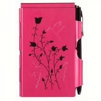 Wellspring Flip Note Natural Elements Raspberry Hummingbird