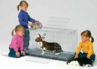 MidWest Metals Rabbit Pet Home with ABS Plastic Pan 37L x 19W x 20H