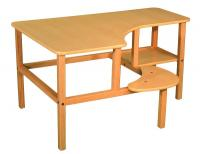 "Wild Zoo Grade School 23"" PC Desk - Maple / Tan"