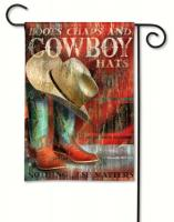 Magnet Works Cowboy Boots Garden Flag