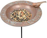 Chickadee Garden Bird Feeder - Copper Verdi