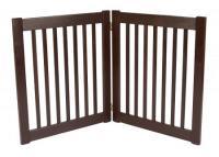 Small 2 Panel Free Standing EZ Pet Gate - Mahogany