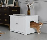 Zoovilla Kitty Litter Loo Bench, White