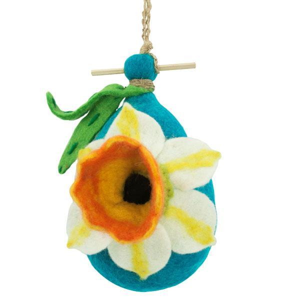 DZI Handmade Designs Daffodil Felt Birdhouse