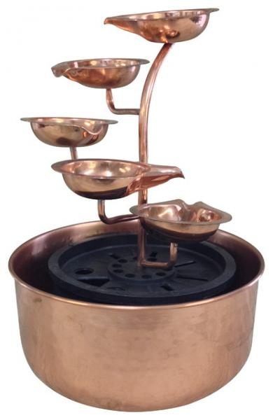Unique Art Five Leaf Copper Fountain