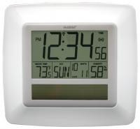 La Crosse Technology Solar Atomic Digital Wall Clock w/ Indoor Temp / Humidity - White