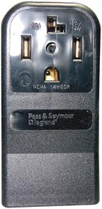 Pass & Seymour 3884/55054 Single-Surface Dryer Receptacle (4-wire)