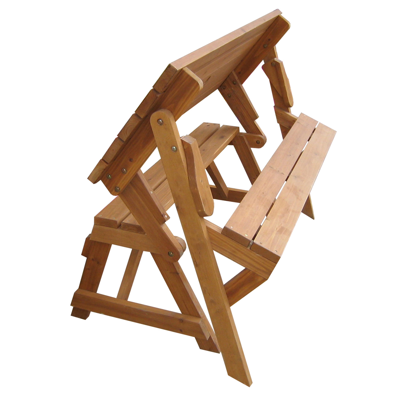 Fir Wood Foldable Potting Bench