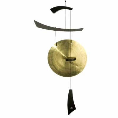 Woodstock Chimes Emperor Gong - Large Black