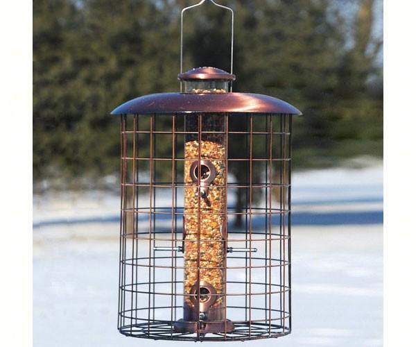 Woodlink Audubon Series Coppertop Caged 6-Port Seed Bird Feeder