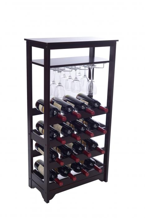 Merry Products Compact 16-Bottle Wine Rack