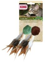Naturals Crinkle Ball With Feather