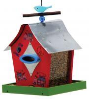 Rosso's International Retro Chic Bird Feeder, Woodstock