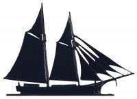 "30"" Schooner Weathervane - Garden Black"