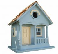 Home Bazaar Pacfic Grove Birdhouse Light Blue with Yellow