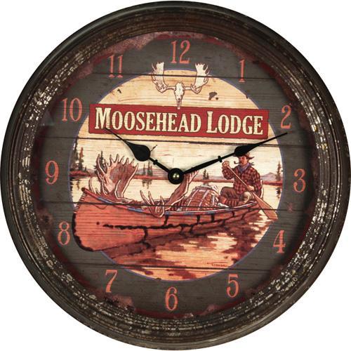 """Moosehead Metal Clock 15"""""""