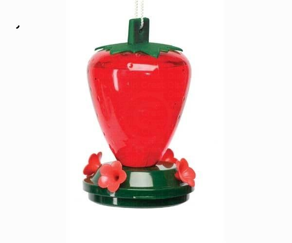 Artline 24 Ounce Strawberry Hummingbird Bird Feeder